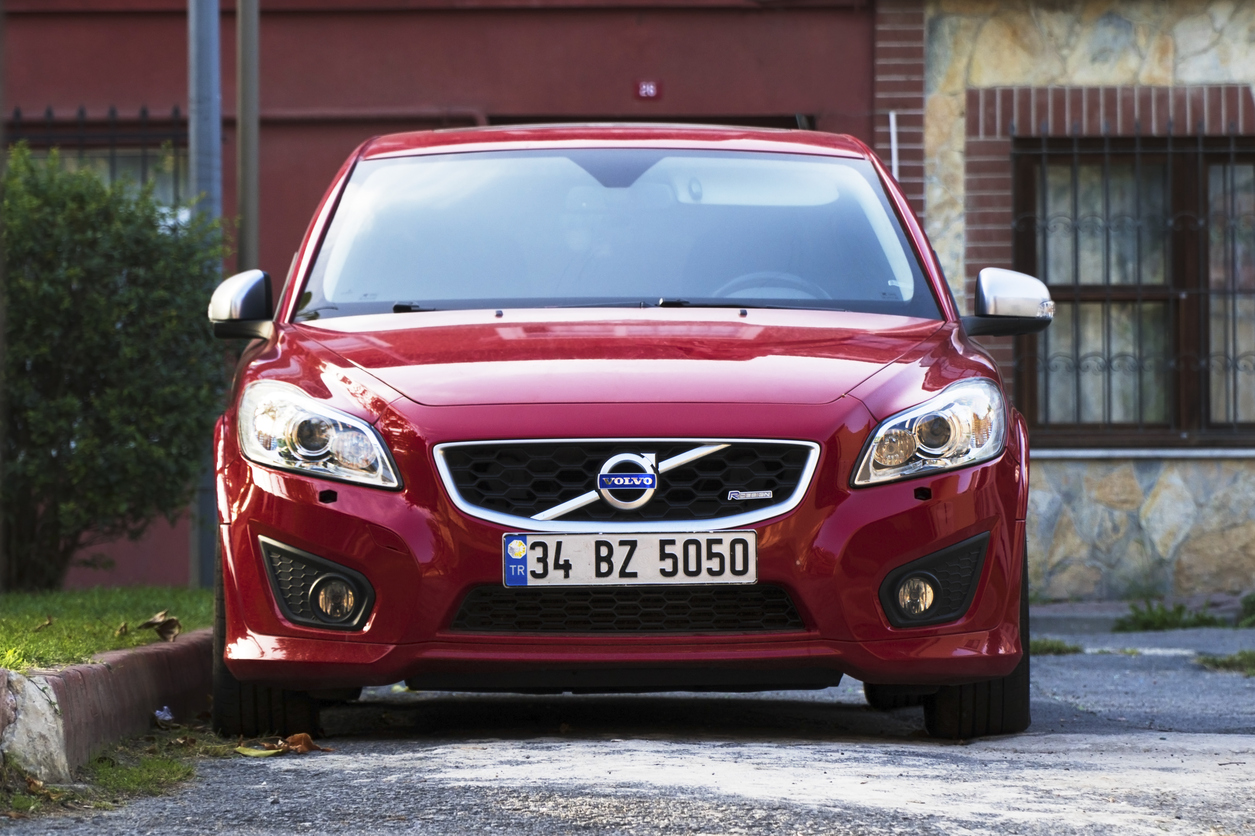 New Red Volvo at The Istanbul Streets